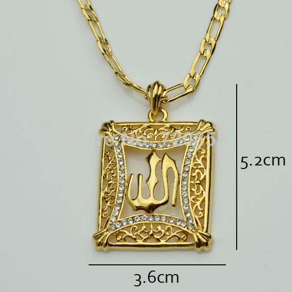a0513cc4901 Find More Pendant Necklaces Information about Anniyo Islamic Allah Charms  Pendant Men Gold Color Rhinestone Necklace Religious Muslim Jewelry For  Women,High ...