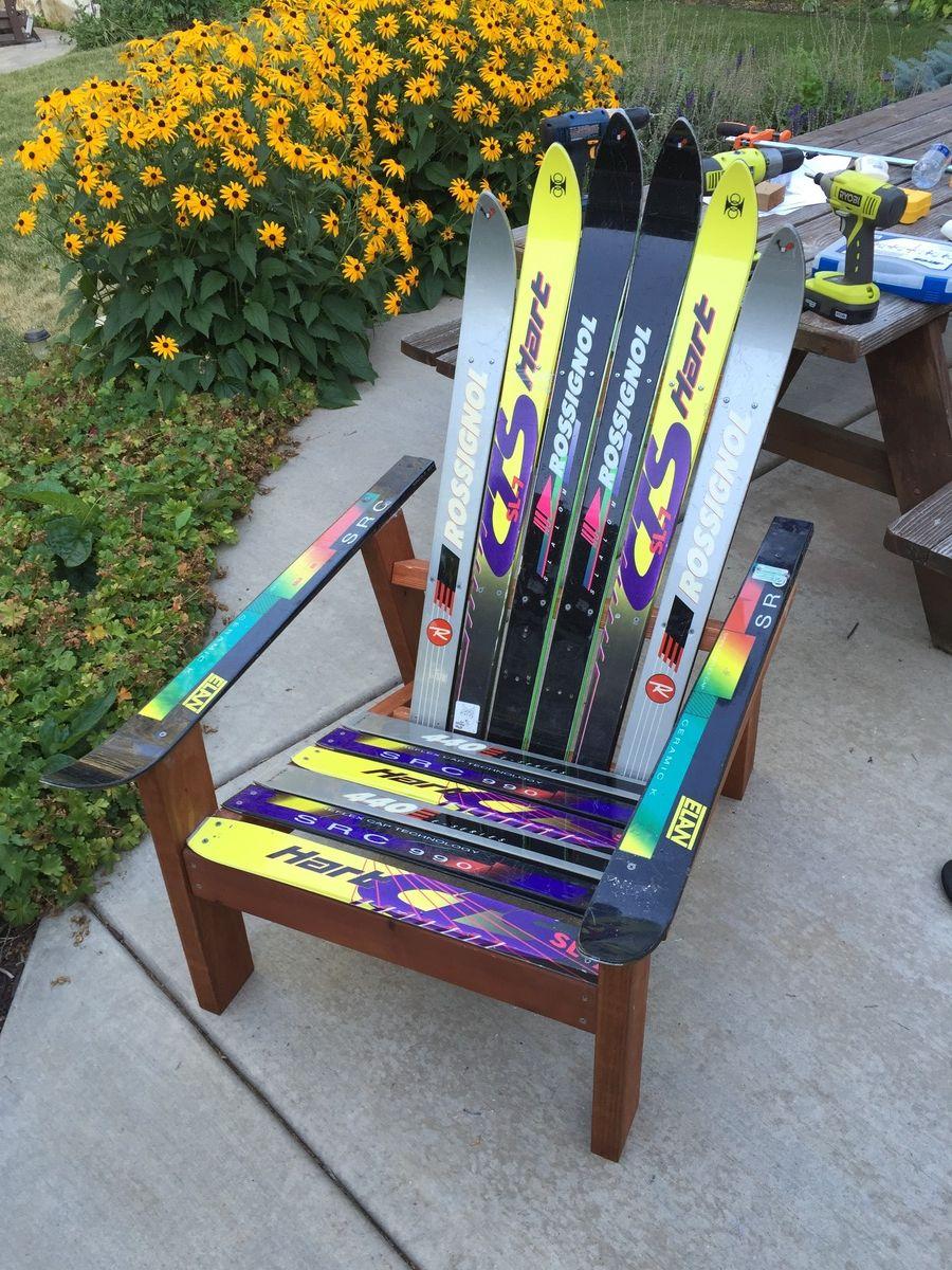 Adirondack ski chair Ana White in 2020 Diy chair