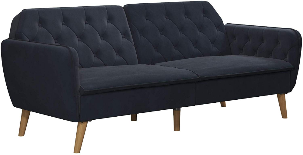 Amazon Com Novogratz 2144879n Tallulah Memory Foam Sofa Bed Light Green Velvet Futo Modern Convertible Sofa Upholstered Sofa Bed Mid Century Convertible Sofa