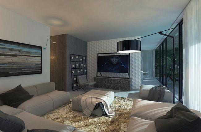 Wohnvorschläge Wohnzimmer ~ Wohnzimmer wohnideen design dreidimensionale wandpaneele cozinha