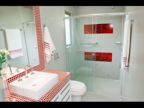 Como decorar um banheiro pequeno casa Pinterest Baños y Pinturas