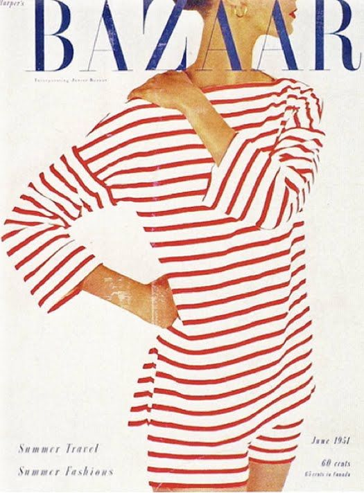 I had a vintage French sailor top just like this in blue that I wore to death during my very stylish college days.  What happened to that adorable girl?  Where did she go?