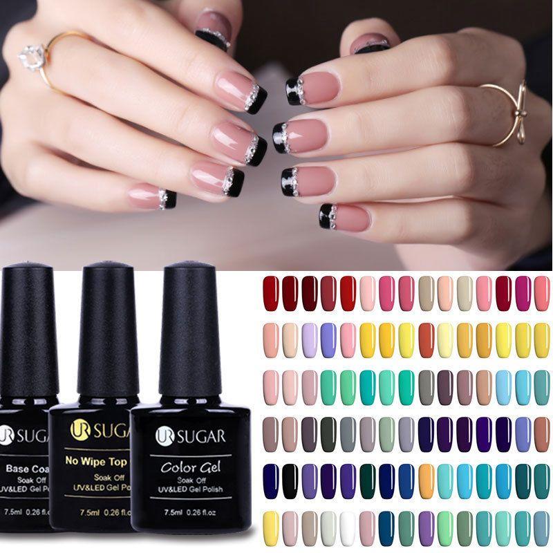 1 59 Nail Art Uv Gel Polish Soak Off Top Base Coat Gel Multi Color Varnish Ur Sugar Ebay Fashion Gel Polish Uv Gel Gel