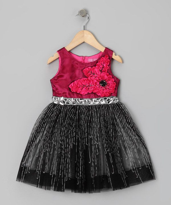 Look at this Fuchsia Stella Rose Dress - Girls on #zulily today!