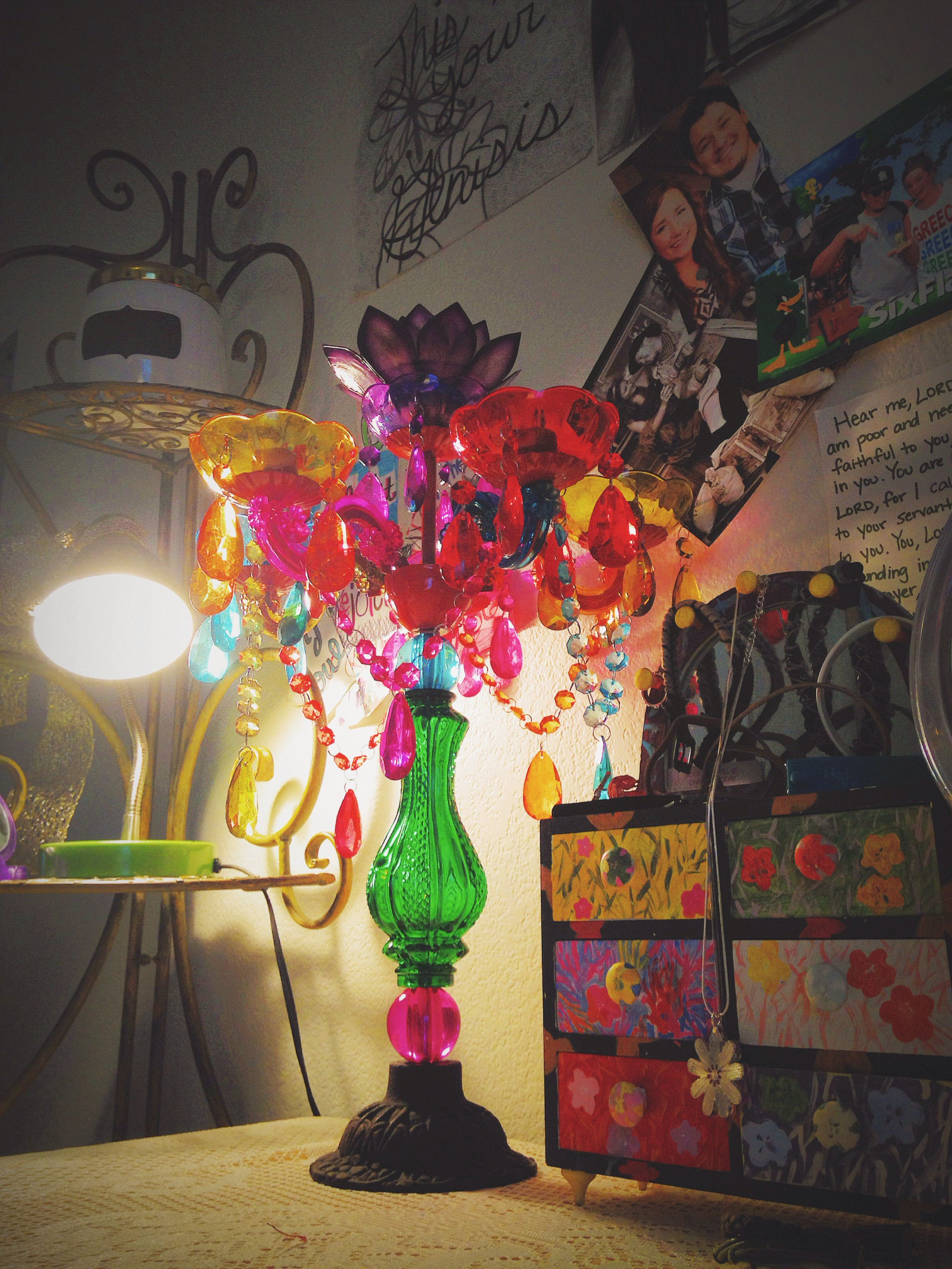 Chandelier from earthbound. Definitely brightens up my room!
