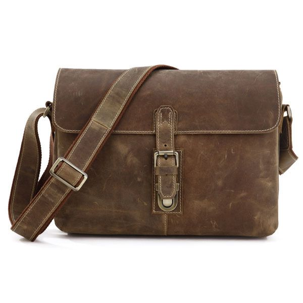 Ancient Korean men crossbody bag genuine first layer leather ...