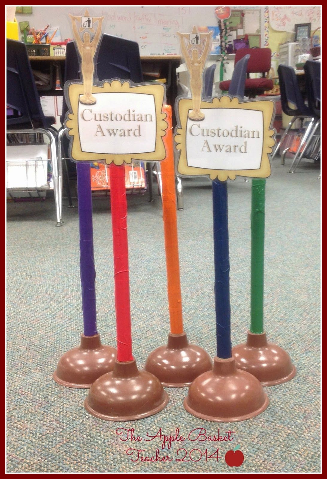 Custodian Awards~made from plungers...custodian places ...
