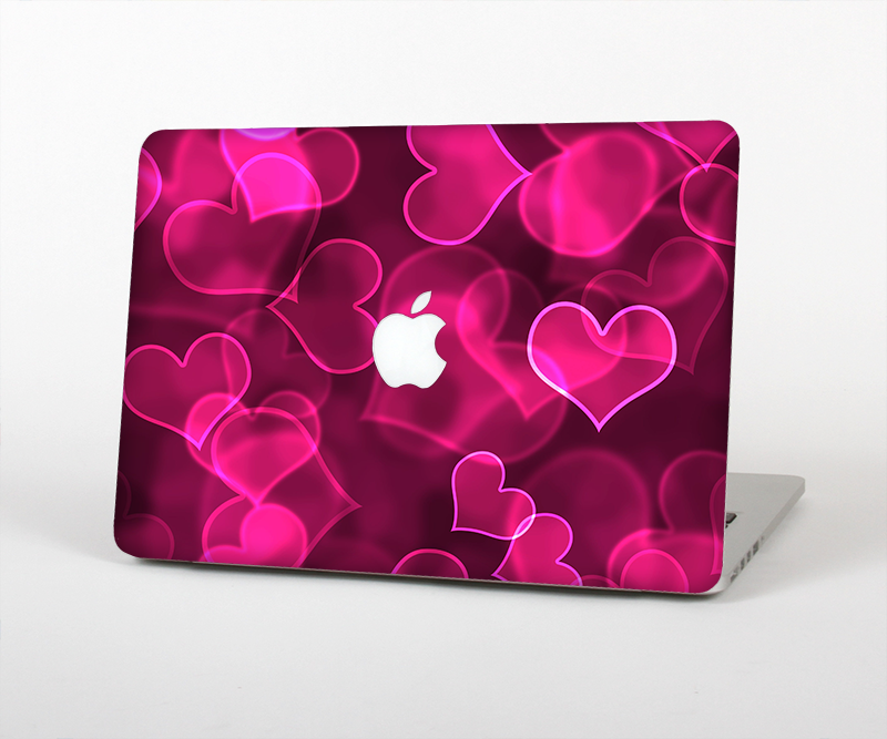 The Glowing Pink Outlined Hearts Skin Set For The Apple Macbook Pro 15 With Retina Display Retina Display Apple Macbook Pro Apple Macbook Air
