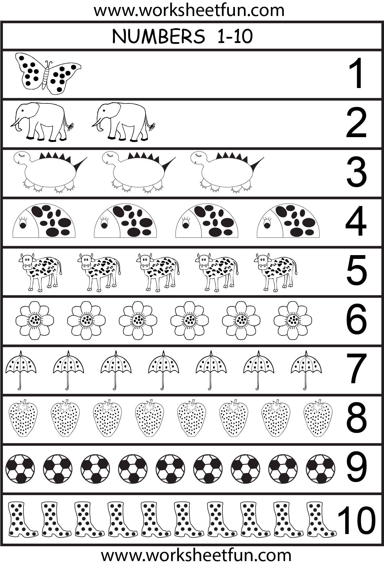 number chart 1-10 | preschool | Pinterest | Number chart