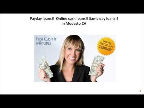 Payday loans in Modesto CA