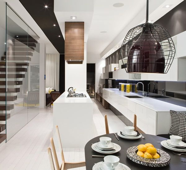 Luxurious Modern Apartment With Splashes Of Yellow Townhouse