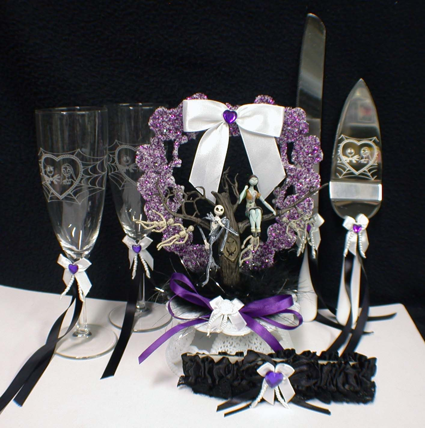 nightmare before christmas themed wedding photos 8 nightmare - Nightmare Before Christmas Wedding Decorations