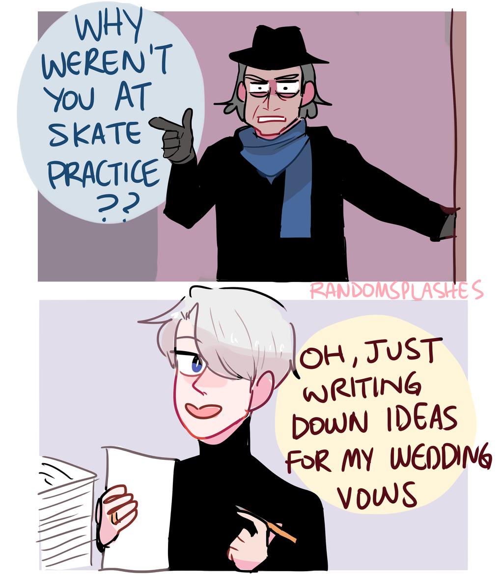 YOI: WHY WEREN'T YOU AT SKATE PRACTICE by Randomsplashes on DeviantArt