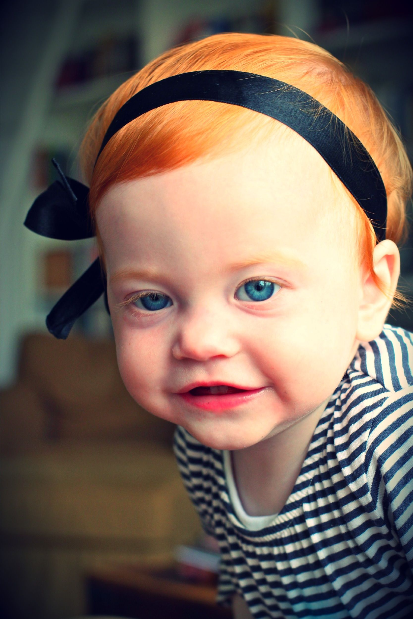 I Have A Red Headed Blue Eyed Baby Girl Now 12 Love Love Love Her Redhead Baby Redheads Ginger Babies