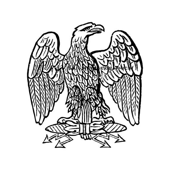 French Imperial Eagle Digital Vintage Graphic