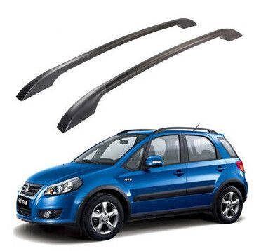 2pcs Set Stainless Steel Roof Racks Roof Boxes Easy Install Without Drilling Luggage Rack Auto Refit Case For Suzuki Sx4 Car Racks Roof Box Sx4