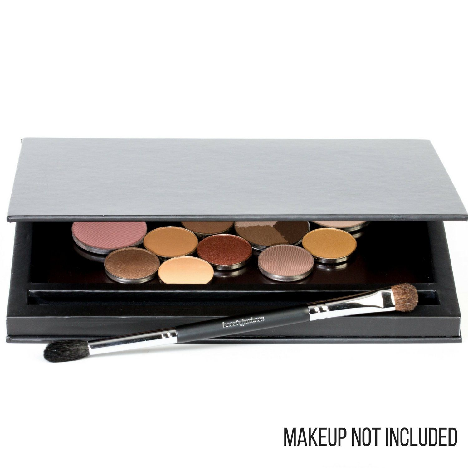Large Black Empty Makeup Palette with Mirror