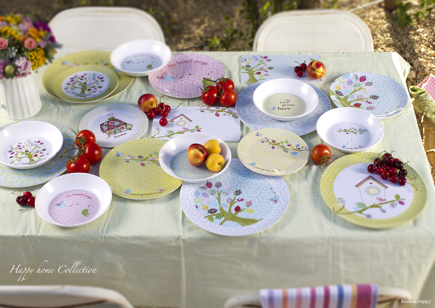 Designed by  Nonna Peppy  - Happy Home collection High quality melamine tableware +972 & Designed by