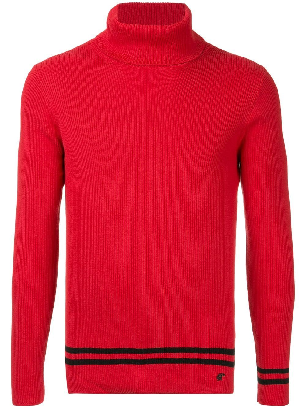Red loveless cloth Top Loveless Turtleneck Knit Fwzqf48F6x