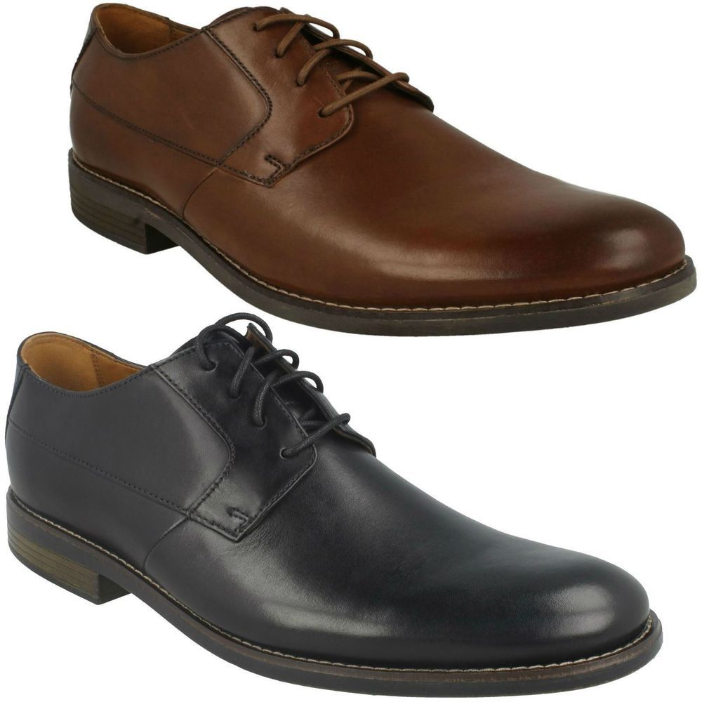 BECKEN LACE MENS CLARKS WIDE LEATHER SMART OFFICE CASUAL FORMAL LACE UP SHOES