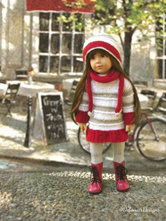 172f93a1b0c Bon~Bon PDF knitting pattern by Debonair Designs a Parisian flair  tunic dress