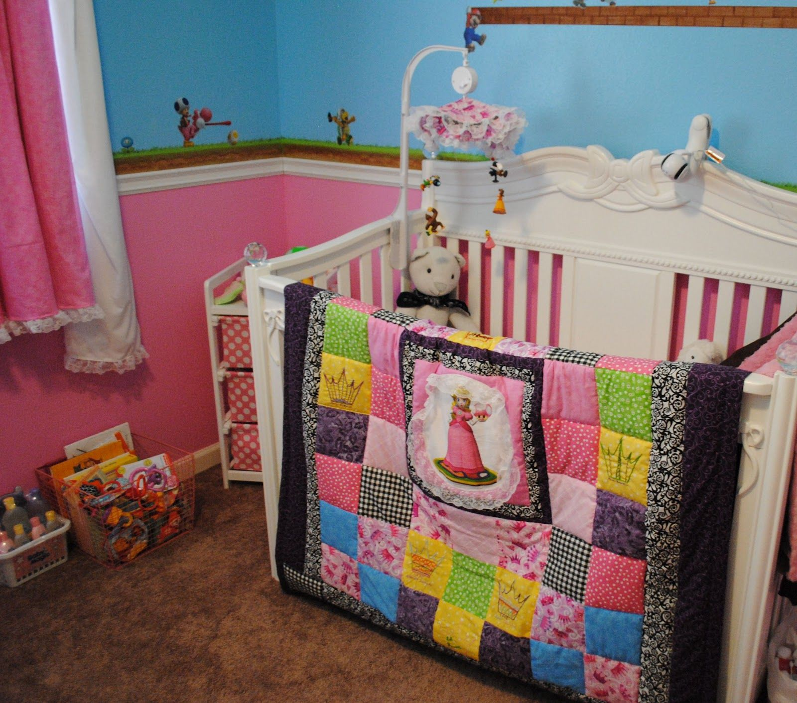 A Little Princess Nursery Design: Super Cute Princess Peach Nursery. Lots Of Neat Ideas