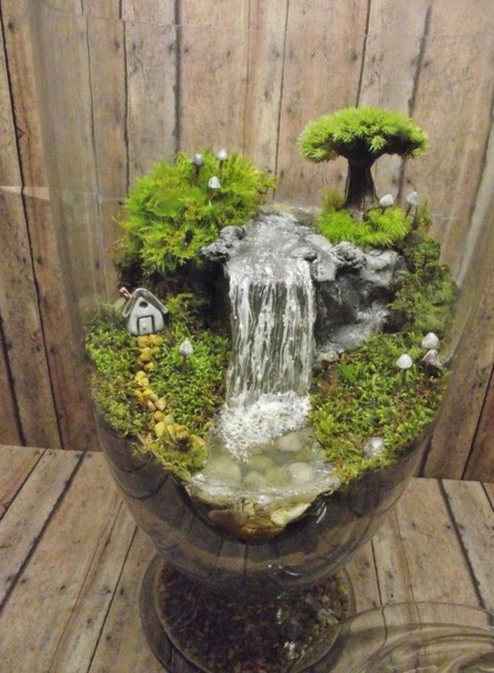Garden Waterfall Itself Build Mini