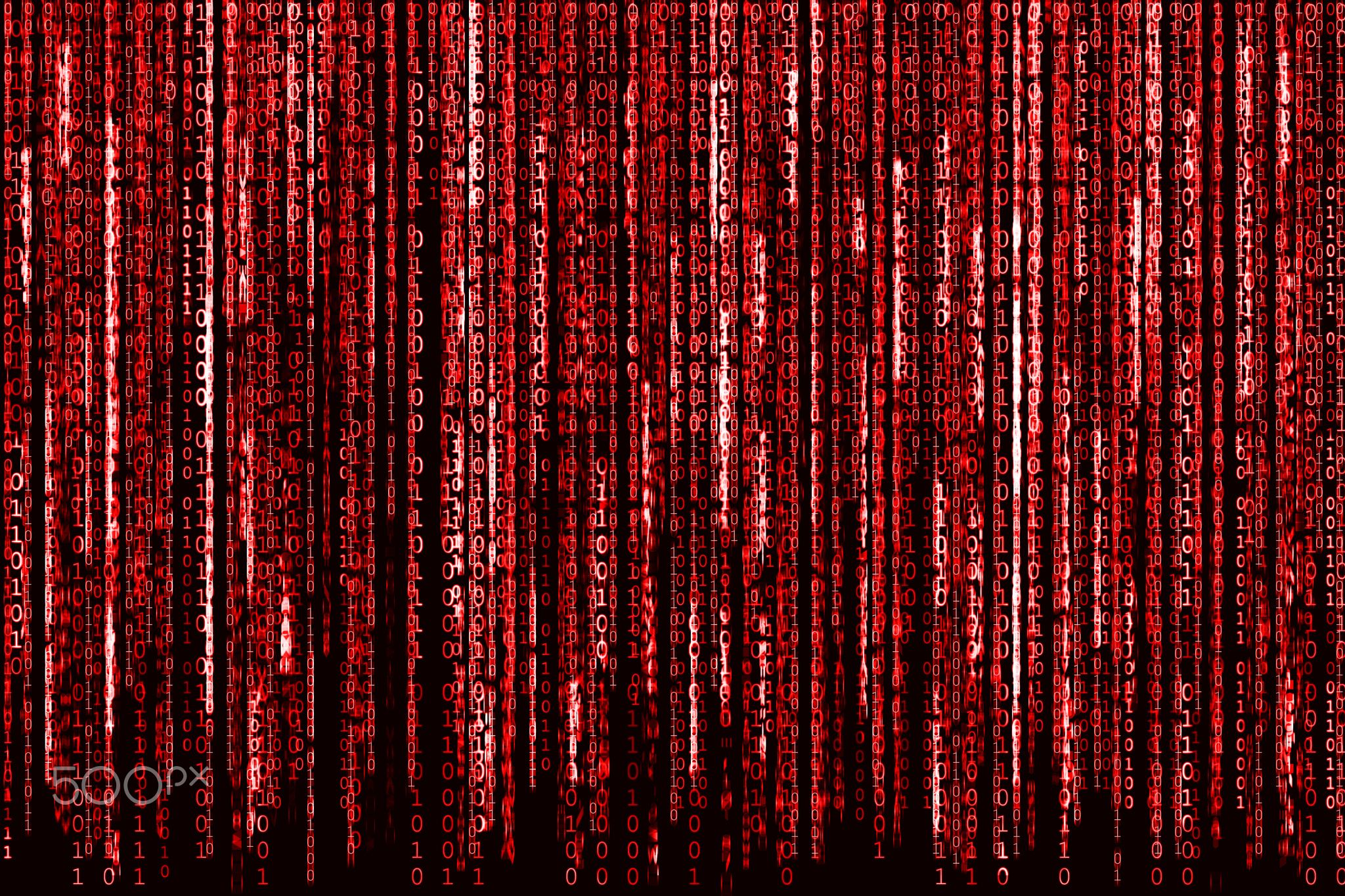 Red Binary Code - Big Red Binary code as matrix background ...
