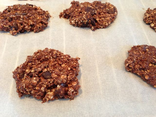SO EASY :) I have made these a million times. Protein/Banana/oatmeal cookies!