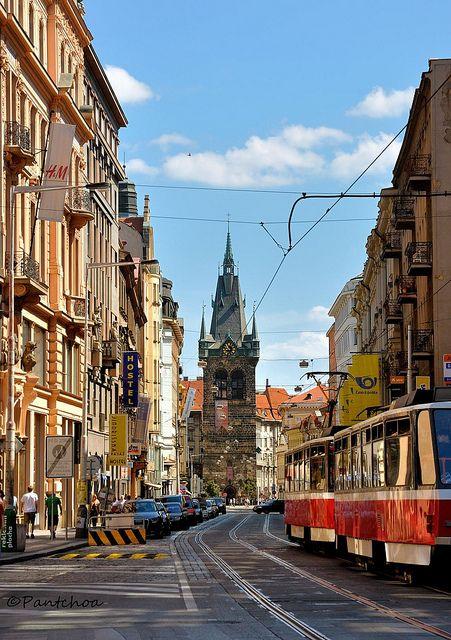 Jindřišská street - Prague, Czech Republic
