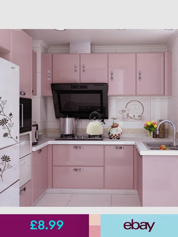 No Wallpaper Rolls Sheets Ebay Home Furniture Diy Pink Kitchen Kitchen Cupboards Kitchen Cupboard Doors
