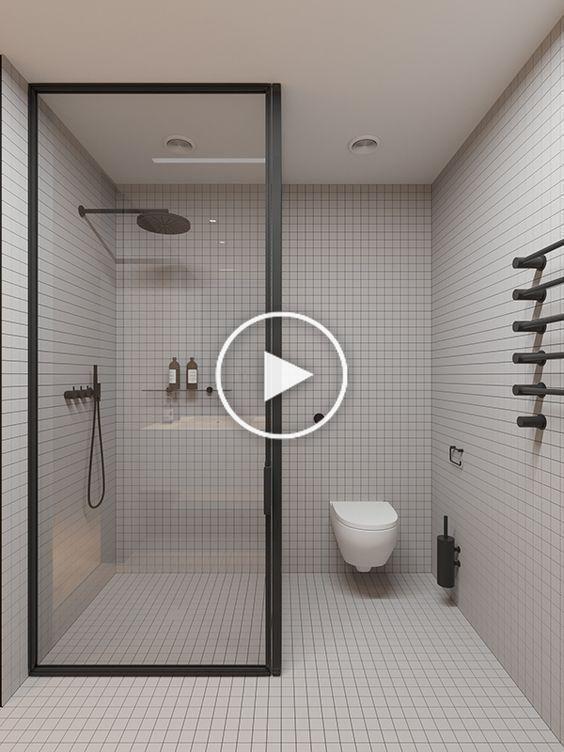 10 formas de poner una mampara fija en el baño   Diseño de ...