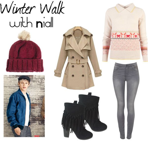 """""""Winter Walk"""" by oned-outfits ❤ liked on Polyvore"""