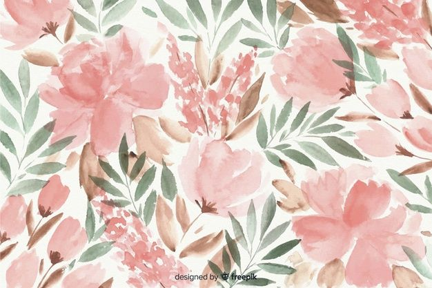 Download Colorful Watercolor Floral Background For Free Aquarela