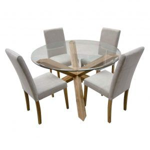 Round Glass Kitchen Table With Chairs Httpcapturecardiffcom - Round dining room table with 4 chairs