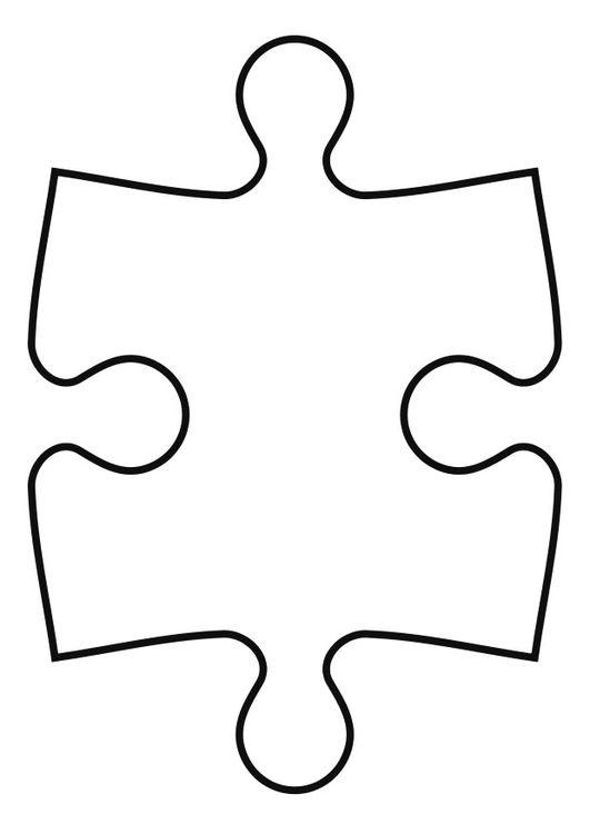 Coloring Page Puzzle Piece