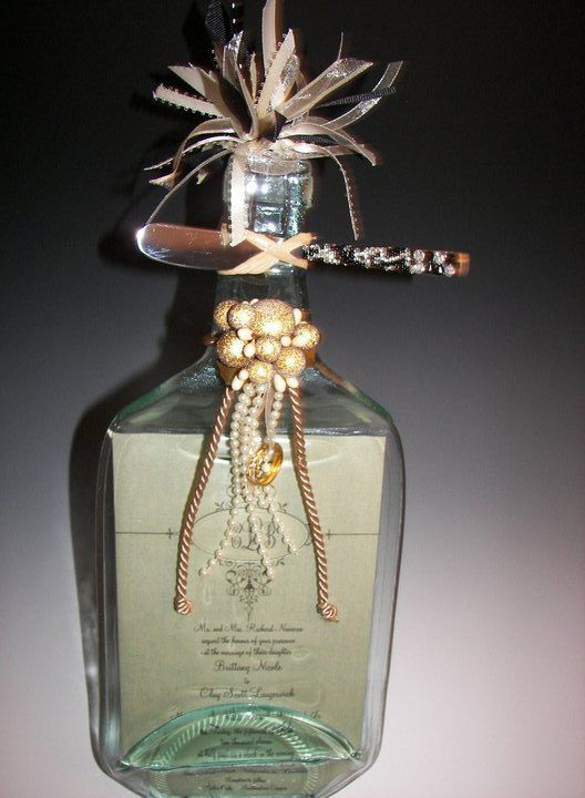 Wedding Invitation Keepsake On Flattened Wine Bottle By Ckb1015 4500