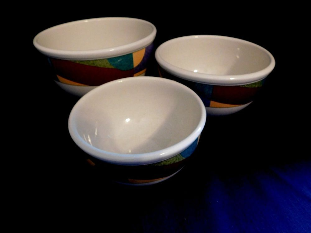 Mikasa Studio Nova Impulse Set Of 3 Nesting Mixing Bowls Oven