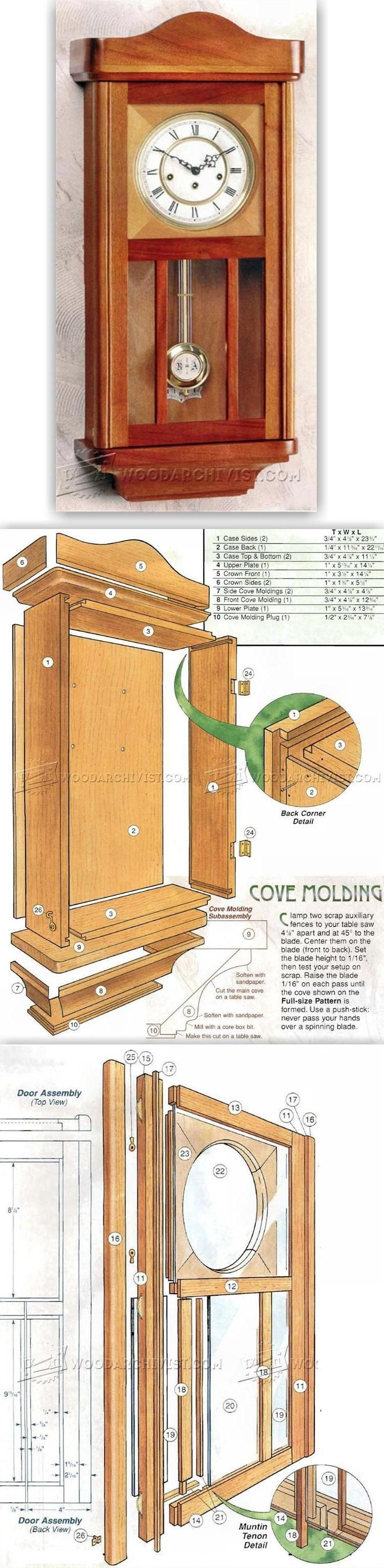 wall clock plans - woodworking plans and projects | woodarchivist
