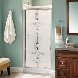 Delta lyndall 36 in x 66 in semi frameless pivot shower door in delta panache 36 in x 66 in pivot shower door in polished chrome with frameless clear glass 158901 at the home depot mobile planetlyrics Gallery