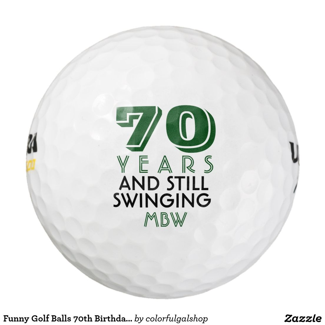 Funny Golf Balls 70th Birthday Party Monogrammed Zazzling Friends