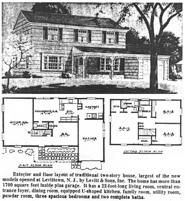 Levittown New Jersey Levittownbeyond Com Colonial House Plans Vintage House Plans Levittown