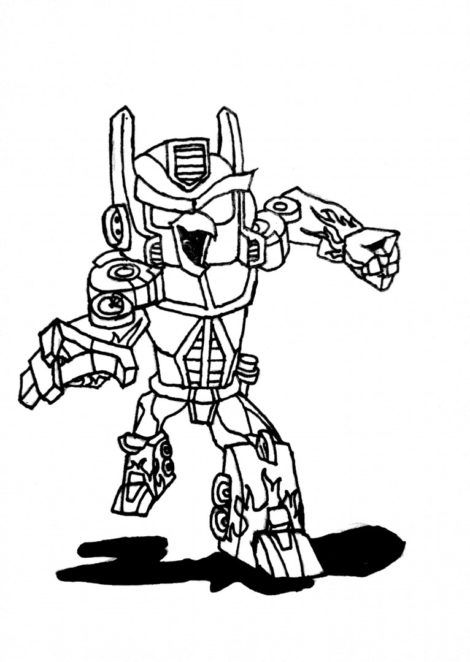 Angry Birds Transformers Coloring Pages Transformers Coloring