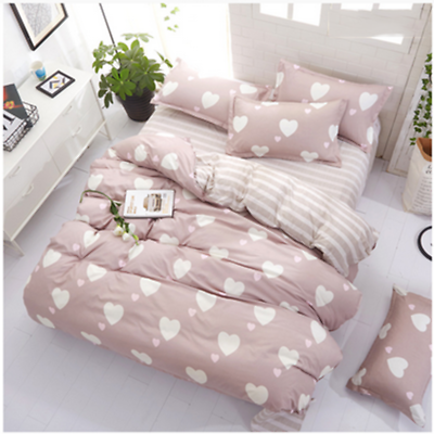 Kids Girls Bright Pink Hearts Comforter Twin Set Heart Shaped Bedding Blue For Sale Online Ebay Bedding Sets Comforter Bedding Sets Blue Bedding