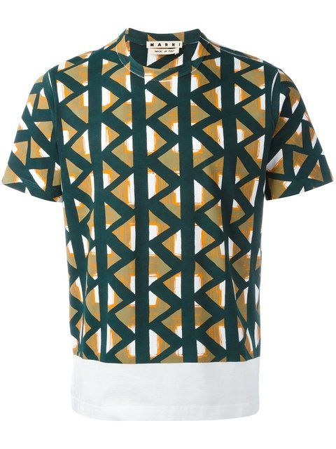 Mens Geometric-Print Cotton Shirt Marni Sale Good Selling Discount Find Great Cheap T0BpymYh