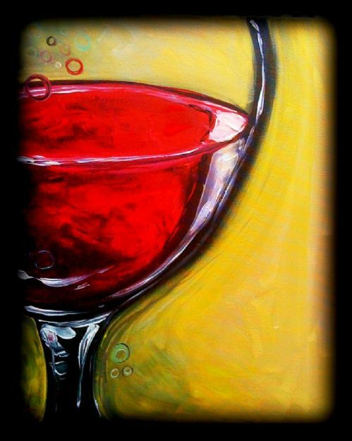 Wine Glass This Would Be A Cool Picture At The Artisan Wine Painting Wine Art Painting
