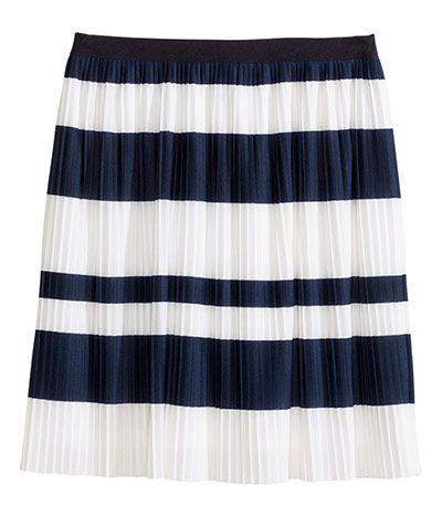 033061ccbb Credit: H&M Pleated mini skirt, £19.99 hm.com Blue And