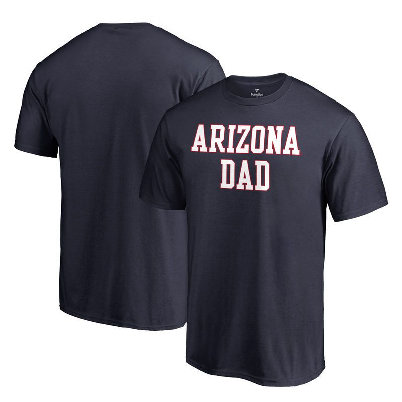 Arizona Wildcats Fanatics Branded Team Dad Crewneck T-Shirt - Navy ... a8de7dd6963