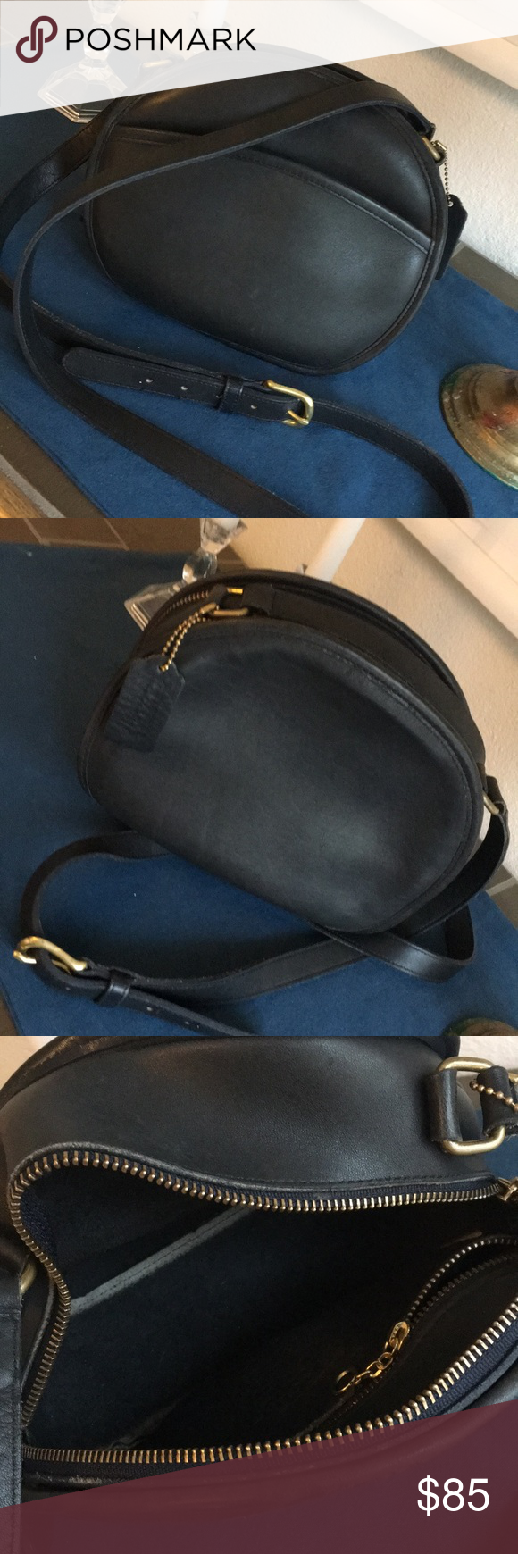 69d3c459807e Vintage Coach Medium Chester Canteen Shoulder Bag H4C 9901. Black leather w  brass hardware. Very good condition. Hard to let this one go but I ve got  so ...
