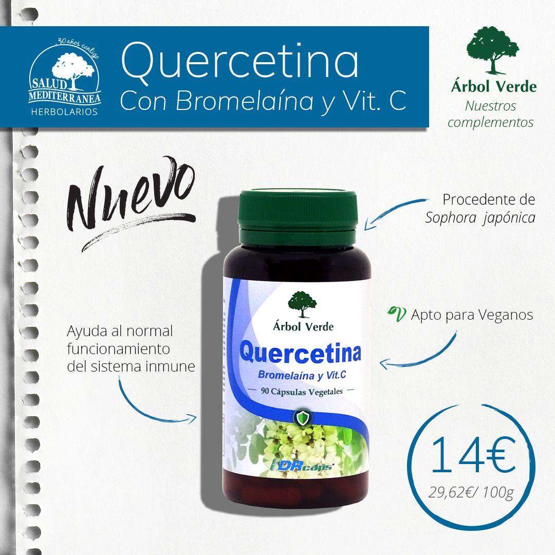 Quercetina Con Bromelaina Y Vitamina C 90 Capsulas Arbol Verde